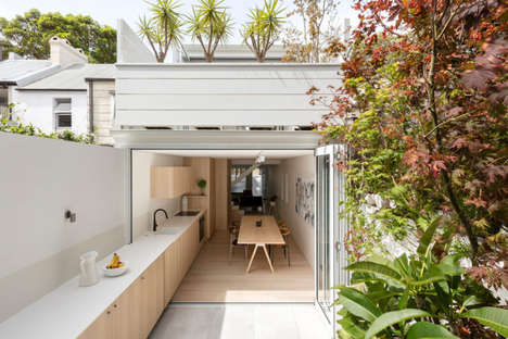 Hybrid Outdoor Indoor Kitchens - The Canteen Designed by Benn+Penna Flows from Inside to the Yard