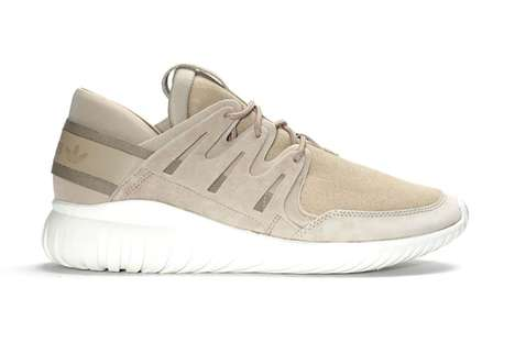 Paper-Colored Sneakers - The Adidas Originals Tubular Nova Sneakers Feature a Beige Cardboard Hue