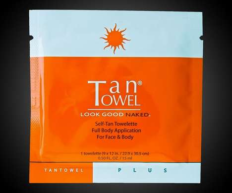 Instant Tanning Towelettes - The 'Look Good Naked' Tanning Wipes Provide Quick Color Without the Sun