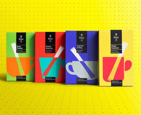 Technicolored Tea Branding