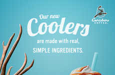 Clean Ingredient Coffee Drinks - The New Caribou Coolers are Made with Simpler Ingredients