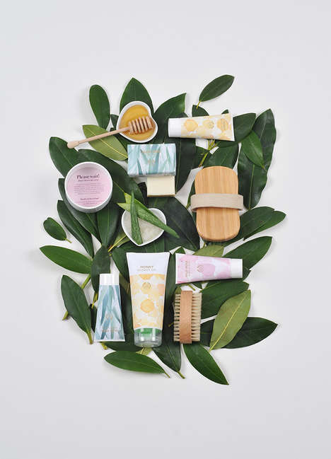 Watercolor Skincare Packaging - The Body Shop Concept Represents a Shift Towards Eco Ingredients