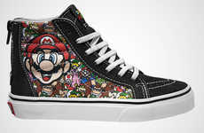 Video Game-Themed Sneakers - The Latest Vans Collaboration Features Playful Nintendo Characters