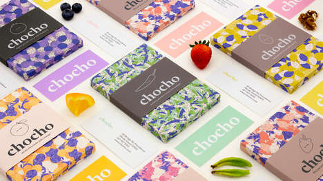 Textile-Inspired Candy Branding - These Patterned Chocolate Wrappers are Vibrantly Hued