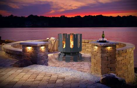 Castle-Inspired Steel Fire Pits - The decorpro Ion Fire Pit is Finished with Automotive-Grade Paint