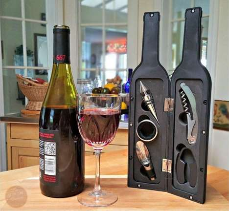 Wine Bottle Tool Boxes - The KOVOT Wine Tool Bottle Keeps Accessories in One Spot