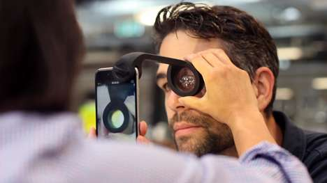 Smartphone Eye Examiners - The oDocs Eye Care 'visoScope' Performs an Eye Test with an iPhone