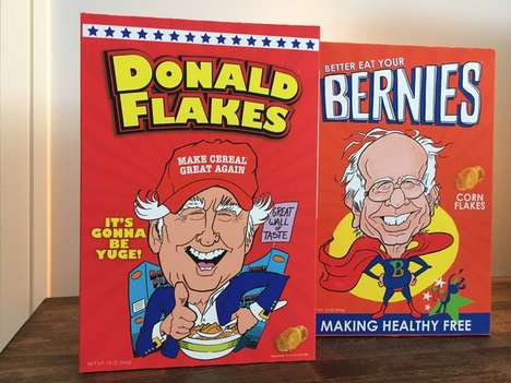 Presidential Cereal Boxes - These Collectible Cereal Boxes Feature Presidential Candidates