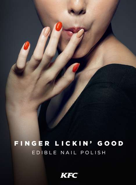 Chicken-Flavored Nail Polish - This Edible KFC Nail Polish Comes in Two Flavors