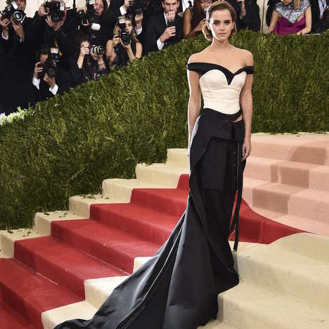 Recycled Plastic Gowns - Emma Watson's Met Gala Dress is Made from Sustainably Repurposed Waste