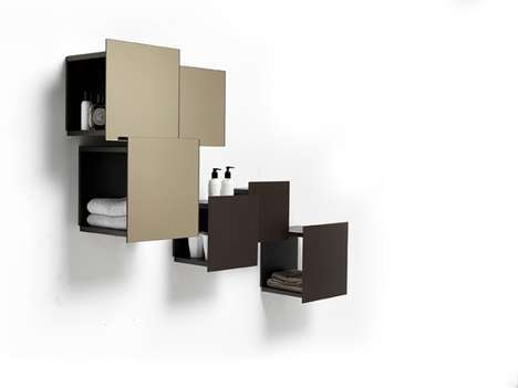 Floating Compartment Shelves - The DPI Wall Containers Provide Hidden Storage that Doubles as Art
