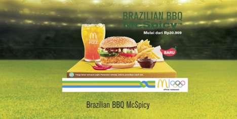Olympics-Inspired Burgers - The New Brazilian BBQ McSpicy Celebrates the Rio 2016 Olympic Games