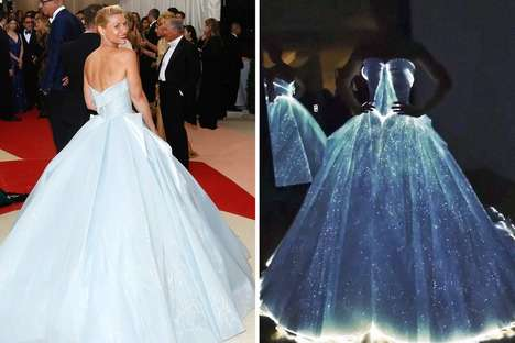 Enchanting Glowing Gowns - Claire Danes' Met Gala Dress Features Delicate Fiber Optics Lights