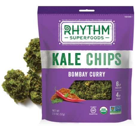 Indian Kale Chips - This Healthy Chip Snack Takes Cues from the Flavors of India