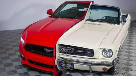 Fused Muscle Cars - Ford Celebrates 50 Years of Innovation By Fusing Two Ford Mustang Models