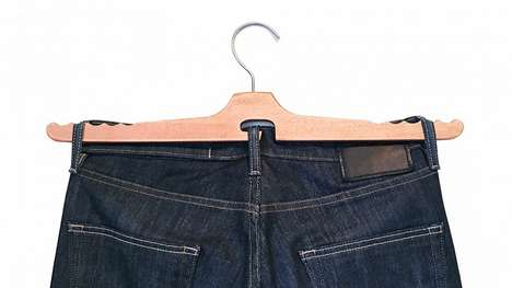 Customized Pant Hangers - The Jean Hanger is Designed to Properly Drape Denim in One's Closet