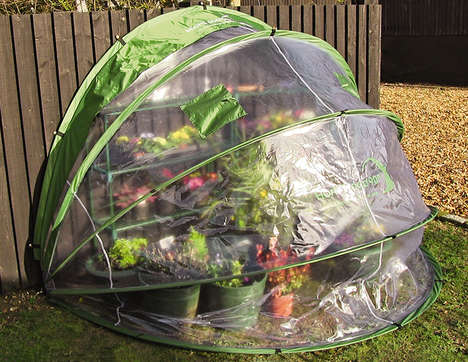 Spiraled Pop-Up Greenhouses - The Horti Hood Provides a Temporary Hothouse For Maximum Plant Growth