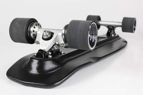Brake-Equipped Skateboards - The Brakeboard 'Rat' Mini Cruiser Skateboard Features Disc Brakes