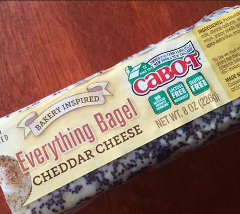 Everything Bagel Cheddar Cheese - This Hand-Rubbed Seasoned Cheese is Naturally Lactose-Free