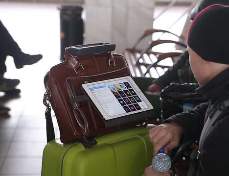 Functional Laptop Tablet Bags - The 'Hands-Free Read&Go' Case Keeps Essentials Secure and Useable