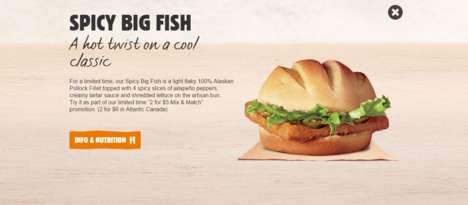 Spicy Fish Sandwiches - The Spicy Big Fish Caters to Seafood Lovers Who Like a Bit of Heat