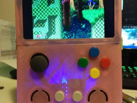 Printable Gaming Consoles - This DIY Game Boy Works as a Handheld Video Game Emulation Station