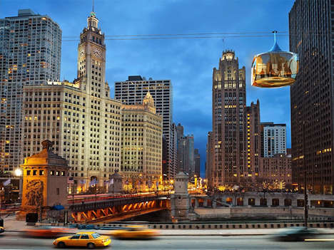 Urban Lakefront Cable Cars - The 'Chicago Skyline' Cable Car System Would Enhance Tourism