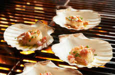 Shell Barbecue Plates - The Grilling Scallop Shells are a Natural Way to Cook on the BBQ