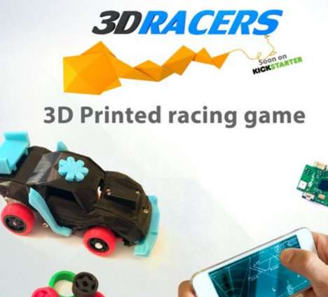 Smartphone-Connected Racing Toys - The 3D-Printed 3DRacers Create Smart Racing Car Games