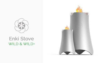 Biomass Cooking Stoves - The 'Enki Stove Wild' Uses Solar Energy to Keep the Fire Going