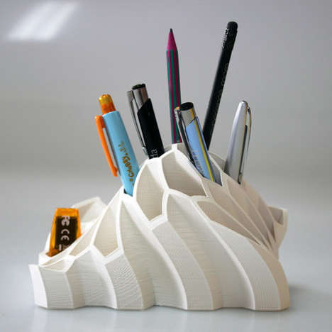 Undulating Utensil Holders - This Sculptural Pen Organizer is a Pleasing Way to Keep a Desk Tidy