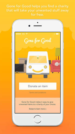 Charitable Donation Apps - The Gone for Good App Helps Users Donate Gently Used Items