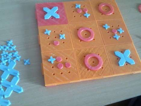 Redesigned Puzzle Boards - The Classic Tic Tac Toe Board is Reimagined with 3D Printing