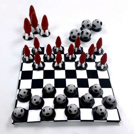 3D-Printed Checkerboards - This DIY Draughts Set Can Be Made at Home with a 3D-Printer