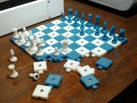 DIY Chess Sets - This Micro Chess Set Can Be Made at Home with a 3D Printer