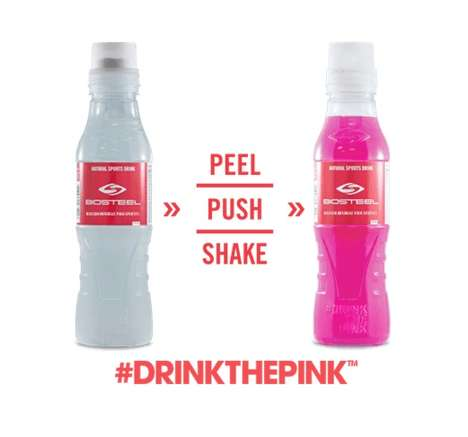 Segmented Energy Drinks - The BioSteel Sports 'Drink the Pink' Beverage Separates Powder and Liquid