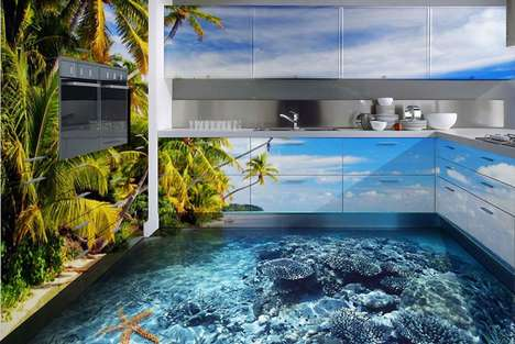 Oceanic Floor Coverings - These Realistic-Looking Ocean-Themed Epoxy Floor Coverings are Captivating