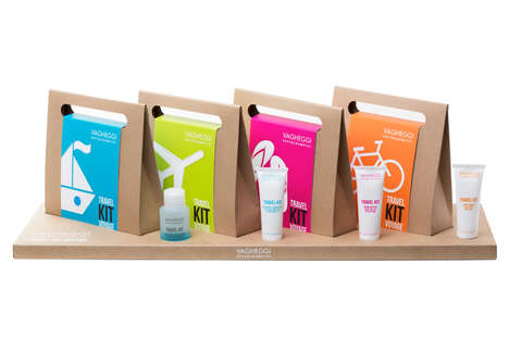 Quirky Cosmetic Travel Kits - The Vagheggi Travel Kit Voyage Packaging is Minimal and Trip-Oriented