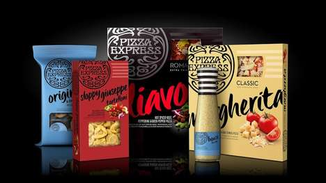 Italian Takeout Packaging - The PizzaExpress Brand Packaging Creates a Unified Vision