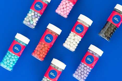 Medicinal Candy Packaging - The Sweet Selection Sweets Packaging is Clear, Simple and Crisp