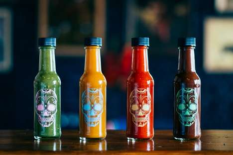 Sugar Skull Sauce Packaging - The MEXICO Food & Liquor Hot Sauce Bottles are Heritage-Inspired