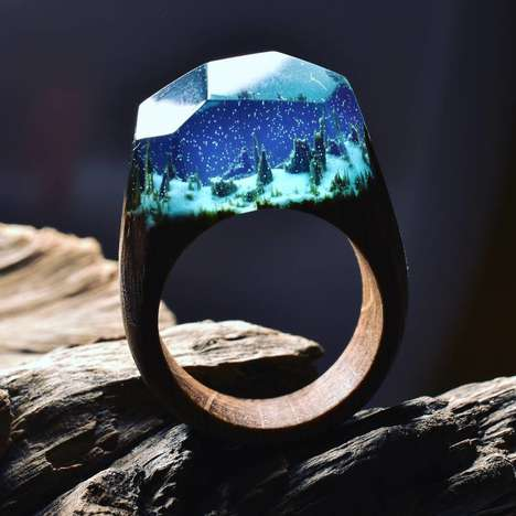 Landscape-Inspired Ring Collections - These 'Secret Wood' Accessories Draw Inspiration from Nature