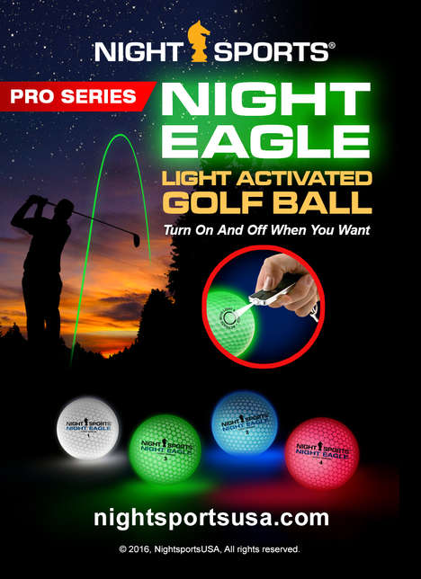 LED Golf Balls - This Light-Up Golf Technology Reduces the Need for Fully Lit Greens