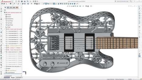 3D-Printed Aluminum Guitars - Olaf Diegel's Latest Guitar is the First Instrument Of Its Kind