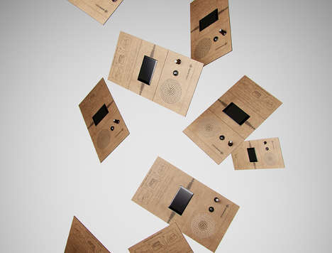 Triangular Cardboard Radios - The ONEMI Opts for a Flat-Pack Shape and Design for Emergency Use