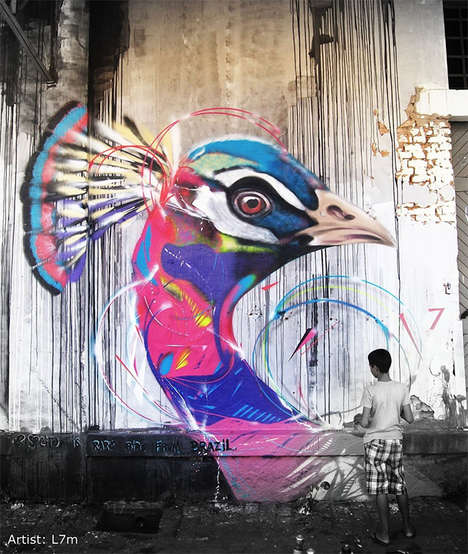 Captivating Avian Street Art - This Brazilian Street Artist Creates Stunning Murals in Brazil