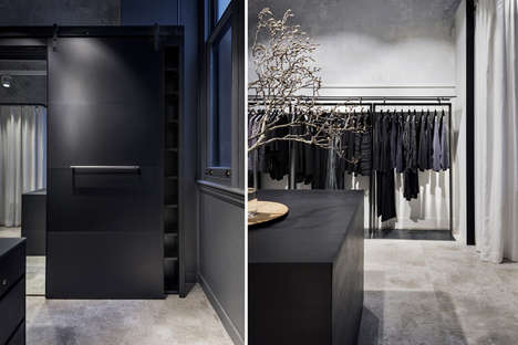 Monochromatic Steel Boutiques - The OSKA Store in Sydney Was Designed by INK interior architects