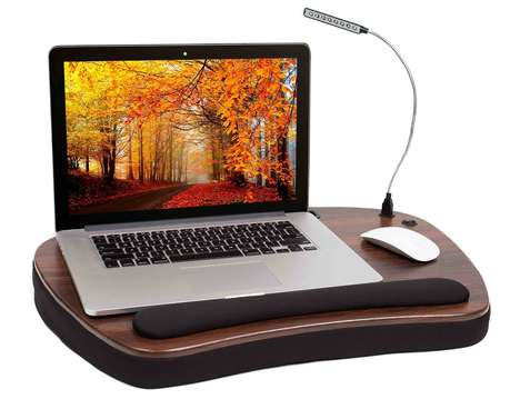 Mini Memory Foam Workstations - The Sofia + Sam Laptop Lap Desk is a Full-Featured Portable Desk