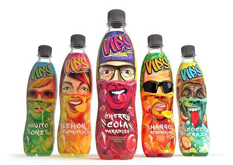 Submerged Hipster Beverage Branding - The VIP Non-Alcoholic Beverages Boast Graffiti-Inspired Design