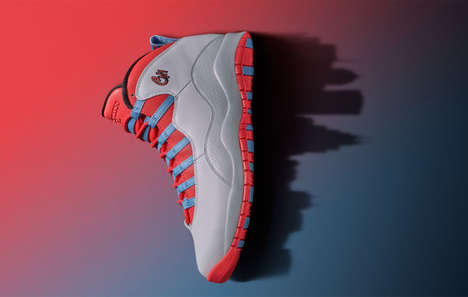 Cityscape Sport Sneakers - The Air Jordan 10 Celebrate the City of Chicago and the Bulls NBA Team